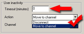select action move to channel