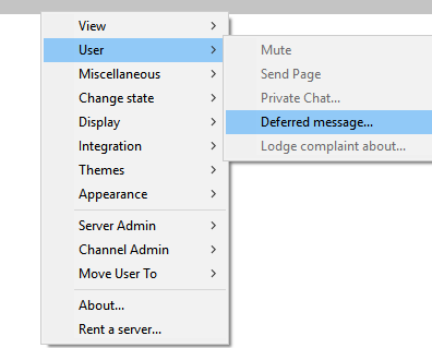 Deferred Message Selection