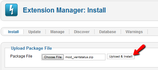 joomla exenstion manager install